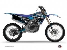 Kit Déco Moto Cross TECHNO Yamaha 250 YZF Bleu