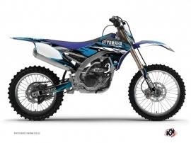 Kit Déco Moto Cross TECHNO Yamaha 450 YZF Bleu