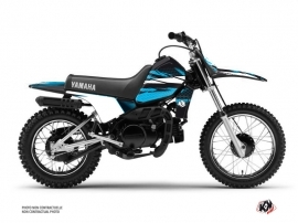 Kit Déco Moto Cross Techno Yamaha PW 80 Bleu
