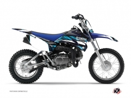 Kit Déco Moto Cross TECHNO Yamaha TTR 110 Bleu