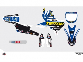 Yamaha 250 YZF Dirt Bike Replica Team Tip Top Graphic Kit 2015
