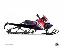 Kit Déco Motoneige Torrifik Skidoo REV-XP Bleu Rouge