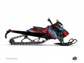 Kit Déco Motoneige Torrifik Skidoo REV-XP Rouge Bleu