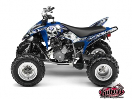 Yamaha 250 Raptor ATV Trash Graphic Kit Black Blue