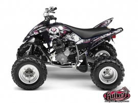 Yamaha 250 Raptor ATV Trash Graphic Kit Black Pink