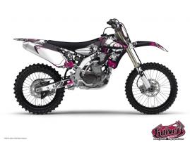 Kit Déco Moto Cross Trash Yamaha 250 YZF Noir - Rose