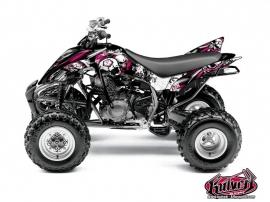 Yamaha 350 Raptor ATV Trash Graphic Kit Black Pink