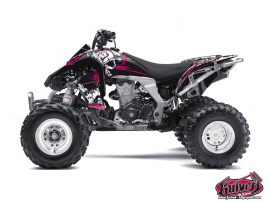 Kawasaki 450 KFX ATV Trash Graphic Kit Black Pink