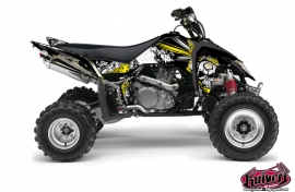 Suzuki 450 LTR ATV Trash Graphic Kit Black Yellow