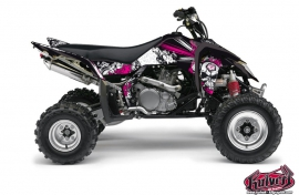 Suzuki 450 LTR ATV Trash Graphic Kit Black Pink