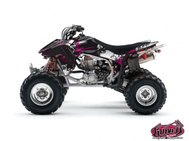 Honda 450 TRX ATV Trash Graphic Kit Black Pink