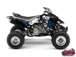 Yamaha 450 YFZ ATV Trash Graphic Kit Black Blue