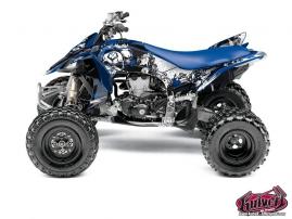 Kit Déco Quad Trash Yamaha 450 YFZ R Noir - Bleu