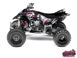 Kit Déco Quad Trash Yamaha 450 YFZ R Noir - Rose