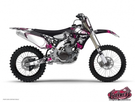 Kit Déco Moto Cross Trash Yamaha 450 YZF Noir - Rose