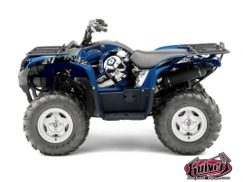 Yamaha 550-700 Grizzly ATV Trash Graphic Kit Black Blue