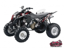 Honda 700 TRX ATV Trash Graphic Kit Black Red