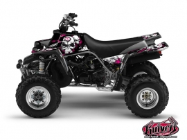 Yamaha Banshee ATV Trash Graphic Kit Black Pink