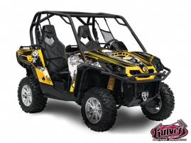 Can Am Commander UTV Trash Graphic Kit Black Yellow