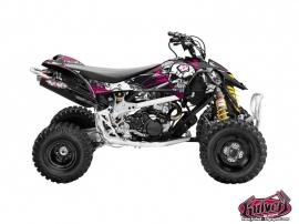 Kit Déco Quad Trash Can Am DS 450 Noir - Rose