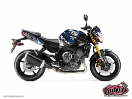 Yamaha FZ 8 Street Bike Trash Graphic Kit Black Blue