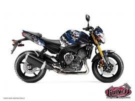 Kit Déco Moto Trash Yamaha FZ 8 Noir Bleu