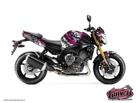 Yamaha FZ 8 Street Bike Trash Graphic Kit Black Pink