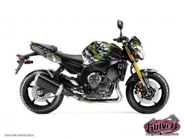 Kit Déco Moto Trash Yamaha FZ 8 Noir Vert