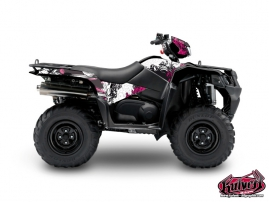 Suzuki King Quad 750 ATV Trash Graphic Kit Black Pink