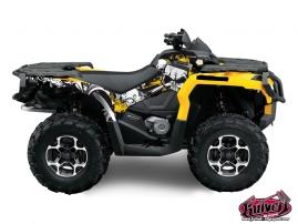 Can Am Outlander 1000 ATV Trash Graphic Kit Black Yellow