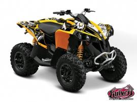 Can Am Renegade ATV Trash Graphic Kit Black Yellow