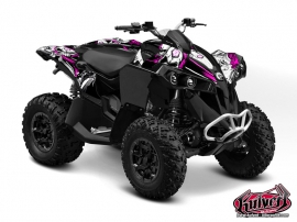 Can Am Renegade ATV Trash Graphic Kit Black Pink