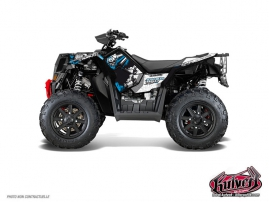 Kit Déco Quad Trash Polaris Scrambler 850-1000 XP Noir Bleu FULL