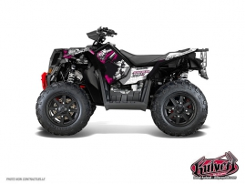 Kit Déco Quad Trash Polaris Scrambler 850-1000 XP Noir Rose FULL
