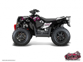Kit Déco Quad Trash Polaris Scrambler 850-1000 XP Noir Rose
