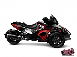 Kit Déco Hybride Trash Can Am Spyder RS Rouge