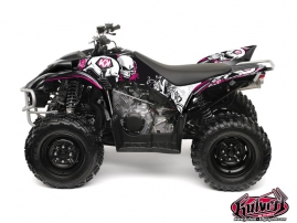 Yamaha 350-450 Wolverine ATV Trash Graphic Kit Black Pink