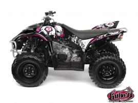 Kit Déco Quad Trash Yamaha 350-450 Wolverine Noir Rose