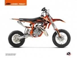 KTM 50 SX Dirt Bike Trophy Graphic Kit Black Orange