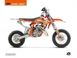 Kit Déco Moto Cross Trophy KTM 50 SX Orange Blanc
