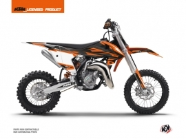 KTM 65 SX Dirt Bike Trophy Graphic Kit Black Orange