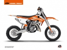 Kit Déco Moto Cross Trophy KTM 65 SX Orange Blanc