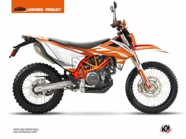 Kit Déco Moto Cross Trophy KTM 690 ENDURO R Orange Blanc