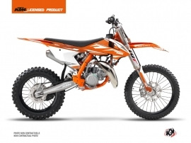 Kit Déco Moto Cross Trophy KTM 85 SX Orange Blanc