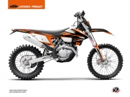 KTM EXC-EXCF Dirt Bike Trophy Graphic Kit Black Orange