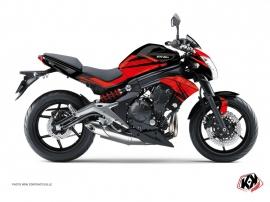 Kit Déco Moto Ultimate Kawasaki ER 6N Noir Rouge