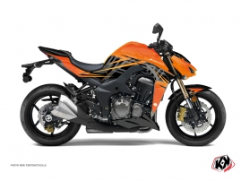 Kit Déco Moto Ultimate Kawasaki Z 1000 Orange Noir