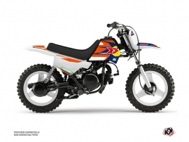 Kit Déco Moto Cross US STYLE Yamaha PW 50 Orange