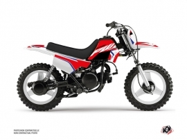 Kit Déco Moto Cross US STYLE Yamaha PW 50 Rouge