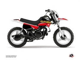Kit Déco Moto Cross US STYLE Yamaha PW 50 Rouge Noir